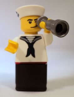 """""""Dateien in Sicht, Ahoi""""   Heute ganz speziell für unsere Dawanda Kunden, unser kleiner LEGO® Matrose, den wir nach langer, liebevoller Handarbeit zu"""