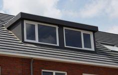 Patrick: Zo'n soort dakkapel zal zeer goed passen bij de eerder verzonnen rijtjeswoning. Deze zal namelijk dezelfde kleur hebben als de dakpannen en heeft een zeer moderne uitstraling.  http://www.dakkapel-weetjes.nl/Kunststof-dakkapel.jpg