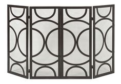IMAX Winnoa 4 Panel Iron Fireplace Screen & Reviews | Wayfair