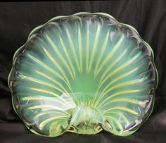 Vintage Murano Art Glass Opalescent Shell by StetsonCollectibles