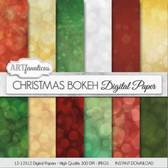 Bokeh digital papers CHRISTMAS BOKEH for by Artfanaticus on Etsy  https://www.etsy.com/listing/171319665/bokeh-digital-papers-christmas-bokeh-for?ref=related-7