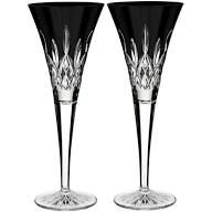 waterford crystal black champagne flutes - Google Search