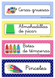 Acabo de terminar ahora mismo estas etiquetas para organizar los materiales. Quotes For Students, Quotes For Kids, Art Classroom Management, Dora, Preschool Printables, Teacher Organization, Learning Spaces, Design Blog, Kindergarten Teachers