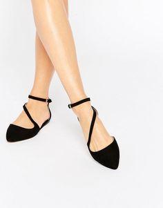Carvela | Carvela Maverick Strap Point Flat Shoes at ASOS