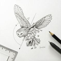 Geometric Owl Tattoo Designs - Geometric Owl Tattoo Design Tattoos on Brilliant Owl Tattoo Design Ideas That Youll Insp Owl Tattoo Design, Tattoo Designs, Tattoo Ideas, Design Tattoos, Beautiful Drawings, Cool Drawings, Tattoo Drawings, Tattoo Ink, Sleeve Tattoos
