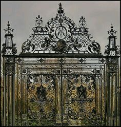 Coco's Collection: antique French iron work is instant historical significance to newer building #NOLA #New Orleans #wrought iron #architecture #details