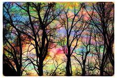 colorful sky, imagine a pastel blend base color black streaks! :D