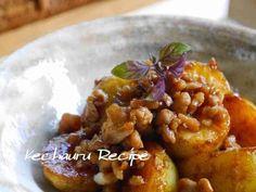 定番ソース味★ジャガイモの鶏そぼろ煮の画像