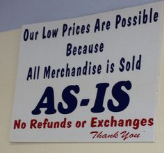 sign at the Goodwill Outlet Store