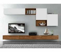 44 Modern TV Stand Designs for Ultimate Home Entertainment Tags: tv stand ideas for small living room, tv stand ideas for bedroom, antique tv stand ideas, awesome tv stand ideas, tv stand ideas creative Living Room Tv Wall, Living Room Tv, Living Room Tv Unit, Living Room Designs, Home Living Room, Room Setup, House Interior, Wall Unit, Room Design