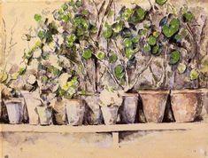 Vasos, tinta para aquarela por Paul Cezanne (1839-1906, France)