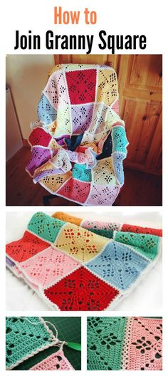 Crochet Granny Square Ideas Tutorial Simple Joining Square Technique - The Crochet Victorian Lattice Square Blanket Free Pattern is a crochet project that features an intricate lace design on each individual crochet square. Diy Crochet And Knitting, Crochet Quilt, Basic Crochet Stitches, Crochet Motif, Crochet Crafts, Crochet Projects, Granny Square Crochet Pattern, Afghan Crochet Patterns, Crochet Squares