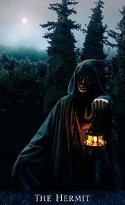 The Bohemian Gothic Tarot - The Hermit.  My favorite tarot deck!
