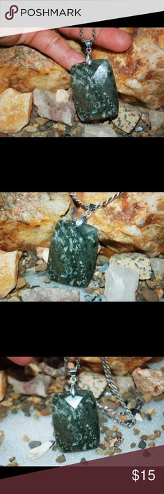 """Natural Faceted Kambaba Jasper Pendant 2 1/8"""" Natural Faceted Kambaba Jasper Pendant,Weight: 21.2625 gram;Length: 2 1/8"""" long handmade & handcrafted gemstone jewelry Jewelry Necklaces"""