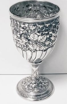 Antique Gorham American Sterling Goblet, C.1890 Gorham Sterling, Vase Shapes, American, Antiques, Silver, Metals, Antiquities, Antique, Old Stuff
