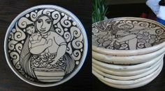 Herlinda Morales, Hand made plates from Mexico