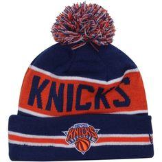 9da9b4b0902 New Era New York Knicks The Coach Cuffed Beanie - Royal Blue Orange