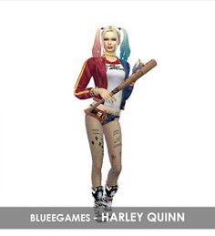 Cabello harley quinn sims 4