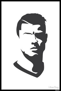 'Cristiano Ronaldo Vector Portrait' Poster by UberBoy Cristino Ronaldo, Ronaldo Football, Cristiano Ronaldo Juventus, Neymar, Art Football, Cr7 Wallpapers, Cristiano Ronaldo Wallpapers, Meliodas And Elizabeth, Poster Drawing