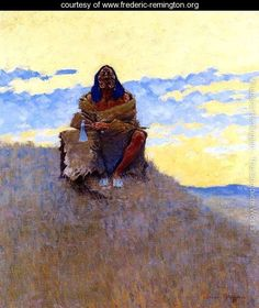 When His Heart is Bad - Frederic Remington - www.frederic-remington.org