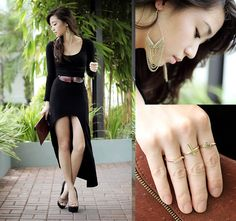 High-Low Dresses and Necklaces as Belts (by Kryz Uy) http://lookbook.nu/look/3827051-High-Low-Dresses-and-Necklaces-as-Belts