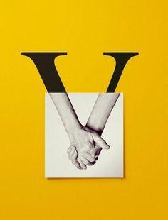 #typography Barcelovers Amb V de Votar. Con V de Votar. With V for Vote. in Fresh