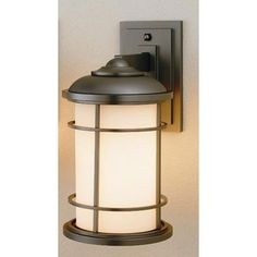 "Feiss Lighthouse Wall Lantern 7"" in Burnished Bronze"