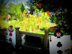 Alice in Wonderland garden entry
