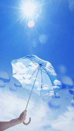 pretty n peaceful Aesthetic Lockscreens, Aesthetic Backgrounds, Aesthetic Wallpapers, Fancy Umbrella, Blue Umbrella, Transparent Umbrella, Blue Sky Wallpaper, Blue Wallpapers, Blue Aesthetic Pastel