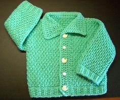 Ayasha Cardigan Pattern -- FREE Tunisian crochet pattern for infants.                                                                                                                                                                                 More