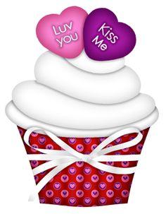 dulce y romantico. Cupcake Clipart, Food Clipart, Cupcake Pictures, Cupcake Images, Cupcake Drawing, Cupcake Art, Love Cupcakes, Art Cupcakes, Birthday Clipart