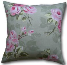 Designer Cushion Covers made in Clarke & Clarke Nancy Floral Sage Green Pillows Green Cushions, Floral Cushions, Cushion Covers Uk, Cushion Cover Designs, Clarke And Clarke Fabric, Traditional House, Country Living, Sage, Salvia