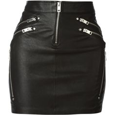 Diesel Yusra Leather Zips Mini Skirt ($361) ❤ liked on Polyvore featuring skirts, mini skirts, bottoms, saias, black, leather miniskirt, real leather skirt, short skirts, leather skirt and diesel skirts