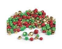 Assorted Christmas coloured jingle bells. Ideal for adding to festive crafts!
