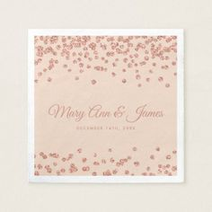 Elegant Wedding Rose Gold Glitter Confetti Blush Paper Napkin - bride to be gifts bridal wedding ideas cyo diy Elegant Wedding Favors, Gifts For Wedding Party, Bridal Gifts, Party Gifts, Glitter Confetti, Glitter Gifts, Rose Gold Glitter, Glitter Wedding Invitations, Wedding Confetti
