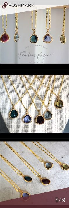 Just arrived and going through amazing inventory!! 5 pendants -detailed description coming soon! Function & Fringe Jewelry Necklaces
