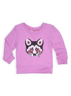 Pumpkin Patch - sweats - sequin racoon sweat - W4TG20005 - sweet lilac - 12-18m to 5