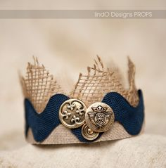 Navy Crown, White Rose Crown, newborn crown, newborn prop, photography prop, baby boy crown