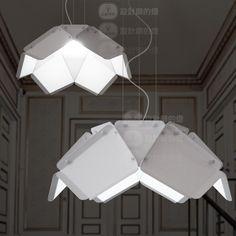 American Scandinavian Minimalist Designer Lamp Bedroom Lamp Creative Restaurant Industry Iron Metal Origami Led Chandelier - Buy Marine Prop...