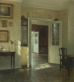 Carl Holsoe Sunlit Interior.