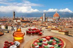 Şimdi Floransa manzarasına karşı pizza yesek harika olmaz mı? #İtalya