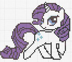 My Little Pony Rarity Cross Stitch Pattern - Crochet / knit / stitch charts and graphs/Hama or Perler beads My Little Pony Rarity, Loom Beading, Beading Patterns, Embroidery Patterns, Crochet Cross, Crochet Chart, Cross Stitch Charts, Cross Stitch Patterns, Cross Stitching
