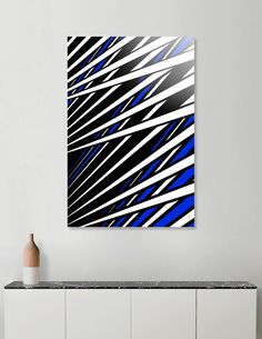 """Blue Black White"" Artprint by Philippe Intraligi - https://www.curioos.com/product/Print/blue-black-white  #artprint #decoration #print #art #gift"