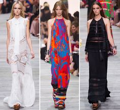 Women's Catwalk | Blog | WGSN Milan: A hot palette of head-turning brights kicked-off Roberto Cavalli's latest collection for Spring/Summer. Exotic florals were oversized and covered ...