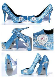 Cinderella-Heels-4 Zoll mit Swarovski Crystals von WickedAddiction