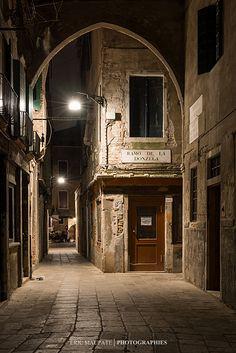 Venice at night, Italy