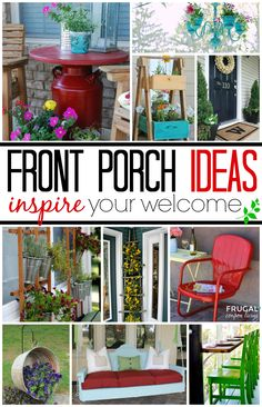 Front Porch Ideas and Landscape Ideas for Your Home - DIY Home Improvement to update your curb appeal. Most of these are budget friendly and easy to do. Details on Frugal Coupon Living.