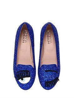 Chiara Ferragni 10mm Blink Eye Glitter Loafers on shopstyle.com