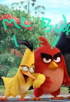 Im the yellow angry bird and my brother is the red one! So very real!