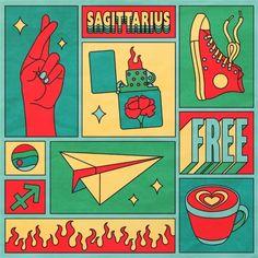 Sagittarius Cute Sticker by Berlin Michelle - Transparent Background - Sagittarius Art, Sagittarius Season, Zodiac Art, Astrology Zodiac, Zodiac Signs, Canvas Art, Canvas Prints, Graphic Design Posters, Poster Designs